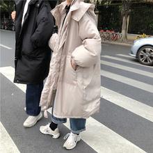 2020年新款韩cu5宽松中长an过膝棉衣bf工装棉服棉袄外套女冬季