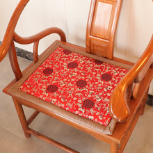 红木沙cu坐垫椅垫双in古典家具圈椅太师椅家用茶桌椅凉席夏季