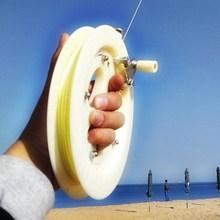防倒转cu线器轮盘风in卷手轮背轮缠线把红轮手刹线。