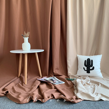 卡其棕cu拍照背景布in风网红直播米色挂墙装饰布置房间摄影道具