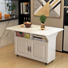 简易折cu桌子多功能he户型折叠可移动厨房储物柜客厅边柜