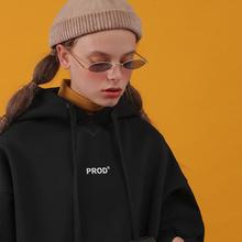 PROcu秋冬韩款加co松卫衣女可爱卡通黑色卫衣学生宽松外套