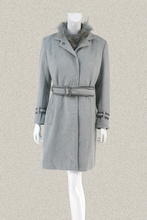 凯伦诗cuarensco女冬貉子毛领羽绒两件套羊毛呢大衣141082/14106