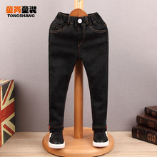 加绒一cu绒男童长裤ce020新式(小)脚裤弹力裤子百搭潮