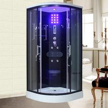 整体简cu家用淋浴房en隔断移门玻璃浴室一体防水卫浴弧扇形