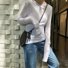 EKOcwL修身显瘦st恤女长袖2020秋季新式韩款学生百搭上衣打底衫