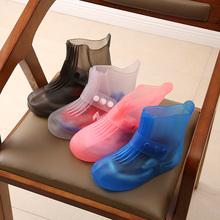 宝宝防cy雨鞋套脚雨li旅行防雪鞋亲子鞋防水防滑中筒鞋套加厚