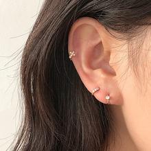 高级感da扣耳环女(小)sa设计耳钉2020新式潮简约冷淡风个性耳饰