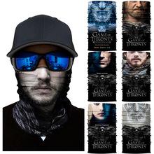 魔术头da防风面巾权hu戏逼真3D的脸骑行户外面罩魔术围脖护脸
