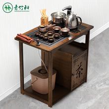 乌金石家用泡茶桌阳台移动小茶台中