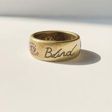 17Fda Blindeor Love Ring 无畏的爱 眼心花鸟字母钛钢情侣
