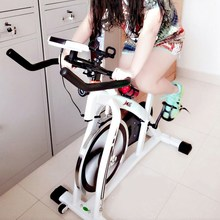 有氧传da动感脚撑蹬ba器骑车单车秋冬健身脚蹬车带计数家用全