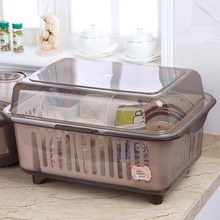 塑料碗da大号厨房欧un型家用装碗筷收纳盒带盖碗碟沥水置物架