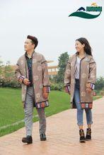 民族风da色外套双层wo秋中长西藏服饰藏族服装男女演出日常服