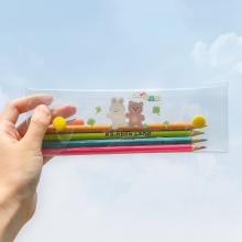 彩虹之da 泫雅风Pis明可爱学生笔袋 女生清新简约文具盒