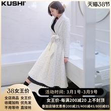 白色风衣2021da5新式春式is气(小)香风名媛西装外套女春秋大衣