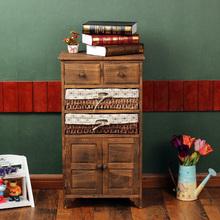 中式复古床头柜简约收纳柜