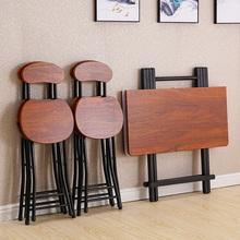 折叠桌da用(小)桌子吃ox易(小)型折叠桌椅便携摆摊桌宿舍方桌