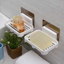 双层沥da香皂盒强力yn挂式创意卫生间浴室免打孔置物架