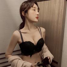 内衣女da胸聚拢厚无lh罩美背文胸网红爆式交叉带性感套装夏季