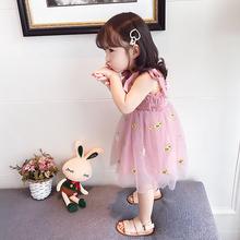 女童连da裙夏季20lh式宝宝2纱裙3洋气4吊带5岁宝宝夏装公主裙子