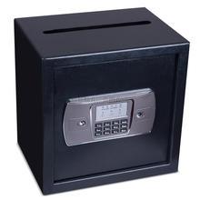 保险箱da险柜家用(小)em电子密码床头全钢防盗防耗迷你投币保险柜