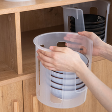 日本进da大号塑料碗ua沥水碗碟收纳架厨房抗菌防震收纳餐具架