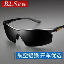 202da新式铝镁墨id太阳镜高清偏光夜视司机驾驶开车眼镜潮