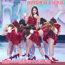 爵士舞da装亮片dsid代啦啦操队舞蹈舞台演出服装女成的年会新