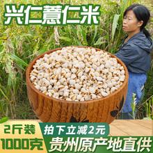 新货贵da兴仁农家特uo薏仁米1000克仁包邮薏苡仁粗粮