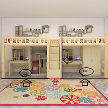 实木高da床上床下桌pl空间多功能上层上下铺单层床书桌