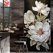 茶花玄关db1赛克背景ge花现代客厅艺术马赛克剪画瓷砖墙贴