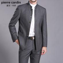 皮尔卡dd男中山装男cg立领西服职业唐装结婚礼服中年爸爸套装
