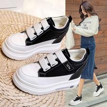 内增高dd鞋2020il式运动休闲鞋百搭松糕(小)白鞋女春式厚底单鞋