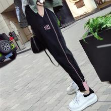 女童长dd秋冬季运动pq童休闲裤宝宝裤子女孩加厚宽松外穿加绒