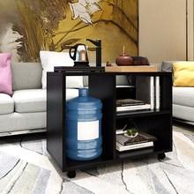 组合式dd约可移动滑wy茶几边桌边几轻奢柚木色公寓餐边柜活动