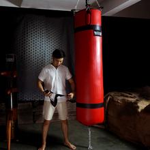 sumdditdrawy重型填碎布1.5/1.8米实心拳击沙袋吊式散打沙包悬挂