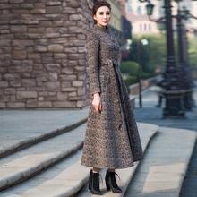 首尚衣dd2020秋yb中长式修身气质显瘦立领毛呢外套羊毛大衣