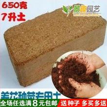 无菌压de椰粉砖/垫bi砖/椰土/椰糠芽菜无土栽培基质650g