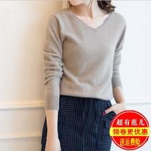 20春de新式女式(小)re绒衫短式修身低领羊毛衫打底毛衣针织衫