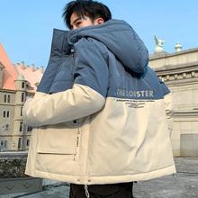男士外de冬季棉衣2he新式韩款工装羽绒棉服学生潮流冬装加厚棉袄