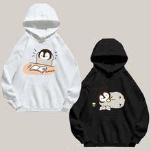 灰企鹅deんちゃん可dg包日系二次元男女加绒带帽卫衣连帽外套
