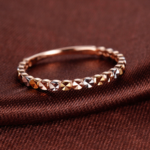 金赞18K金戒指 星光灿烂彩金黄de13玫瑰金hu指环首饰正品