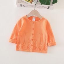 女宝宝de季空调衫薄ry针织开衫(小)童0-2洋气毛衣外套春秋婴儿