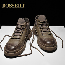 男士马de靴夏季透气di工装皮鞋潮流男靴子低帮短靴休闲男鞋子