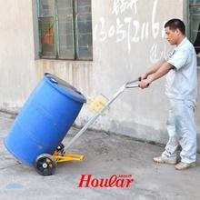 手动油de搬运车脚踏di车铁桶塑料桶两用鹰嘴手推车油桶装卸车