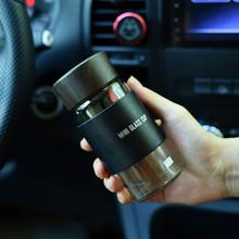 韩款创de水杯便捷携ng耐热隔热玻璃杯(小)巧透明花茶水杯子水瓶