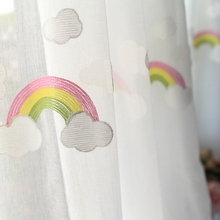 彩虹窗de纱帘 田园ve孩女孩卧室飘窗窗纱宝宝房 网红阳台沙帘