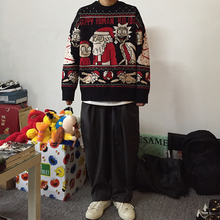 岛民潮deIZXZ秋mo毛衣宽松圣诞限定针织卫衣潮牌男女情侣嘻哈