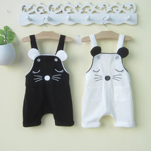 婴幼儿de童夏装潮0mo2-3岁男女宝宝背带裤婴儿连体裤子夏季薄式